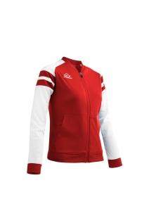 Frauen-Trainingsjacke  KEMARI  v. ACERBIS  rot / weiß (Größe: 2XL)