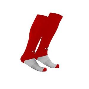 Fußball-Strumpfstutzen Mondial v. LEGEA rot (Farbe rot: sen. ab Gr. 40 ---  1 Paar)