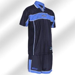 Royal-Trikot-Set - PILOT - Fußball Trikot u. Hose blau (Größe: XL)