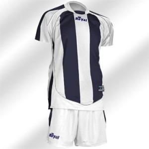 Royal-Trikot-Kits - Raving - Fußball 14 Trikots u. Hosen weiß / blau (Größe: 14 x L)