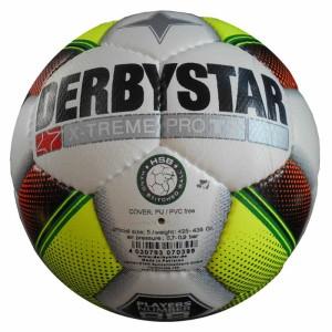 DERBYSTAR Trainings-Fußball  X-Treme Pro TT - weiß / gelb / orange Gr. 5
