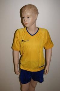 14 Royal-Trikot-Sets - FENIX - Fußball 14 Trikots u. Hosen gelb / blau (Größe: 14 x 3XS)