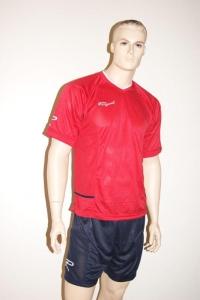 14 Royal-Trikot-Sets - FENIX - Fußball Trikot u. Hose rot/blau (Größe: 14 x L)