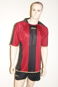 Legea-Trikot-Set - Brasov - Fußball Trikot u. Hose rot/schwarz (Größe: L)