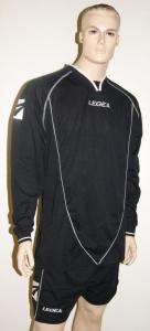 Legea-Trikot-Set - Londra schwarz - Fußball Trikot u. Hose (Größe: 2XS)