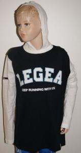 Sweatshirt BERKELEY  v. LEGEA , blau / weiß (Größe: 3XS)