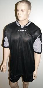 Legea-Trikot-Set - Vento  schwarz / grau Trikot u. Hose (Größe: XL)