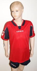 Legea-Trikot-Set - Vento rot  / schwarz  Fußball Trikot u. Hose (Größe: XS)