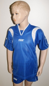 Max-Trikot-Sets - BERNA - Fußball Trikot u. Hose azur (Größe: 2XS)