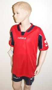 Legea-Trikot-Set - Vento rot / blau - Fußball Trikot u. Hose (Größe: L)