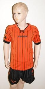 14 x Legea-Trikot-Sets -ZANTE  schwarz / orange (Größe: 11 x S -     fällt 1 Nr. kleiner aus  XS)
