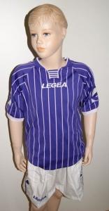 14 x Legea-Trikot-Sets -ZANTE   weiß  /violett (Größe: 14 x 2XS - fällt 1 Nr. kleiner aus  3XS)