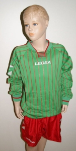 14 x Legea-Trikot-Sets -Budapest  rot / grün (Größe: 14 x S -    fällt 1 Nr. kleiner aus  XS)