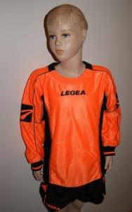 14 x Legea-Trikot-Sets - FLUO  orange / schwarz (Größe: 14 x 2XS)