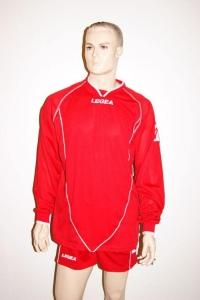 Legea-Trikot-Set - Londra rot - Fußball Trikot u. Hose (Größe: S)