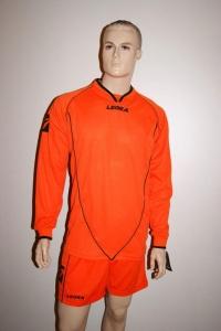 Legea-Trikot-Set - Londra orange- Fußball Trikot u. Hose (Größe: XS)