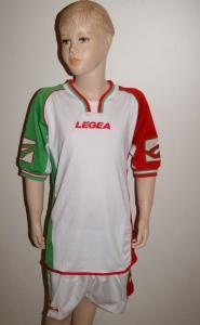 13 x Legea-Trikot-Sets - CAIRO , weiß-grün-rot (Größe: 13 x S - fällt 1 Nr. kleiner aus  XS)