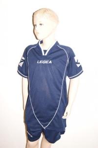 Legea-Trikot-Set - Scudo dunkelblau- Fußball Trikot u. Hose (Größe: 2XS)