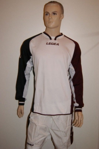 14 x Legea-Trikot-Sets - Anversa , weiß-schwarz-weinrot (Größe: 14 x XL=  fällt 1 Nr. kleiner aus L)