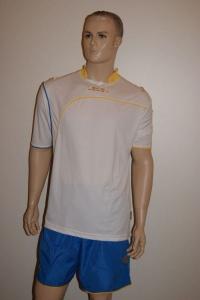 Fußball-Trikot-Set Ginevra von LEGEA weiß / azurblau (Größe: XL)