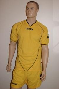 Legea-Trikot-Set - Scudo gelb - Fußball Trikot u. Hose (Größe: XS)