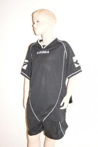 Legea-Trikot-Set - Scudo  schwarz - Fußball Trikot u. Hose (Größe: 2XS)