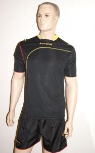 Fußball-Trikot-Set Ginevra von LEGEA schwarz/gelb (Größe: XL)