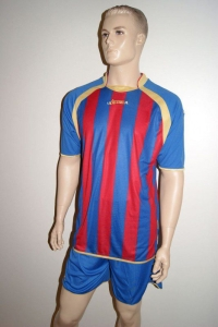 Legea-Fußball-Trikot-Set  DUBAI  azur / rot (Größe: S)