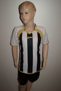 14 Legea-Fußball-Trikot-Sets  DUBAI  weiß / schwarz (Größe: 2x L +11x XL + 1x 2XL)