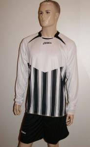Legea-Fußball-Trikot-Set - Manchester - weiß / schwarz (Größe: L)