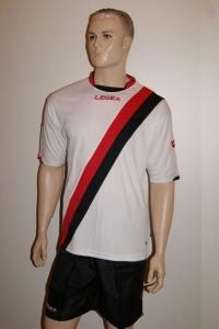 Fußball-Trikot-Set Gibilterra von LEGEA rot / schwarz (Größe: 2XL)