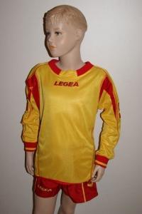 14 Legea-Fußball-Trikot-Sets - Lugano  gelb / rot (Größe: 14 x 2XS)
