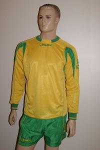 14 Legea-Fußball-Trikot-Sets - Lugano  gelb / grün (Größe: 14 x M)