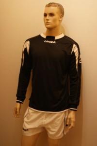14 Legea-Fußball-Trikot-Sets -LIEGI schwarz /weiß (Größe: 14 x XS)