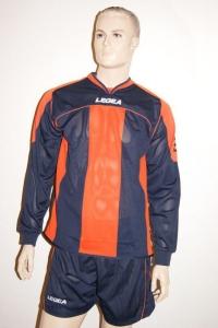14 Legea-Fußball-Trikot-Sets - STRASBURGO orange / blau (Größe: 14 x 2XS)
