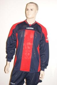 14 Legea-Fußball-Trikot-Sets - STRASBURGO  rot / blau (Größe: 14 x S)