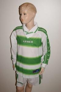 14 Legea-Fußball-Trikot-Sets - Stoccolma, weiß / grün (Größe: 14 x 2XS)