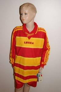 11 Legea-Fußball-Trikot-Sets - Stoccolma, rot /gelb (Größe: 11 x S)