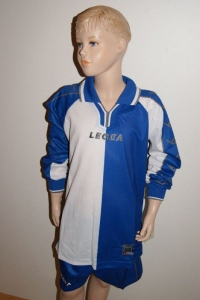 14 Legea-Fußball-Trikot-Sets - Sofia- weiß / azurblau (Größe: 14 Trikotsets in XS)