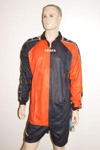 14 Legea-Fußball-Trikot-Sets - Sofia- orange / schwarz (Größe: 14 Trikotsets in 2XS)