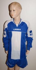14 Legea-Fußball-Trikot-Sets - STRASBURGO  azur / weiß (Größe: 6 x XS + 8 x S)