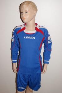 14 Legea-Fußball-Trikot-Sets - AVIGNONE- azur / rot (Größe: 14 Trikot-Sets in S)