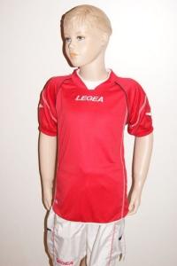 Legea-Trikot-Set - Kiev - Fußball Trikot u. Hose rot / weiß (Größe: L)