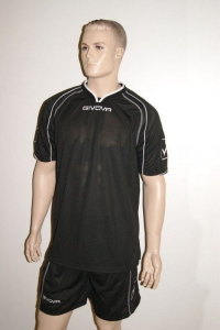 14 GIVOVA Fußball -Trikot-Sets - CAPO -14Trikots u. Hosen schwarz (Größe: 14 x L)
