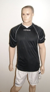 Legea-Fußball-Trikot-Set - Kiev - Fußball  schwarz / weiß (Größe: L)
