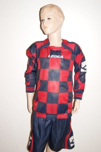 14 Legea-Fußball-Trikot-Sets - LAMPEDUSA rot / blau (Größe: 14 x 2XS)