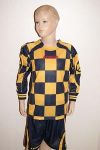 14 Legea-Fußball-Trikot-Sets - LAMPEDUSA gelb/blau (Größe: 14 x 2XS)
