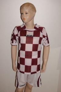 14 Legea-Fußball-Trikot-Sets  CEFALONIA  granata / weiß (Größe: 14 Sets in XS)
