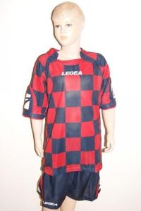 14 Legea-Fußball-Trikot-Sets  CEFALONIA  rot / blau (Größe: 14 Sets in 2XS)