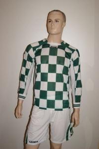 14 Legea-Fußball-Trikot-Sets - LAMPEDUSA grün / weiß (Größe: 14 x M)